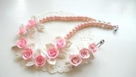 Нарядный комплект для девочки с розами