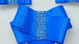Синий набор украшений для школьницы