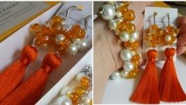 Оранжевый набор украшений ORANGE DAY Оранжевый День от LILEI JEWELRY