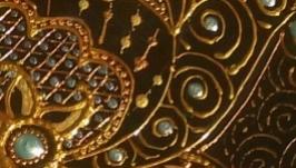 Интерьерная тарелка ′Золотой лотос′