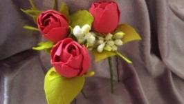 Заколка из фоамирана. Роза