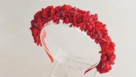 Обруч для волосся Червона ягода