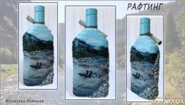 Декор бутылки′Рафтинг′ Подарок любителю экстримального вида спорта