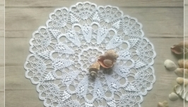 Салфетка крючком- Морская жемчужина