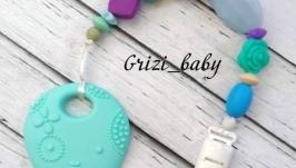 Держатель для соски и игрушки-грызунка ′Осминожки′