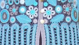 Блузка вязаная