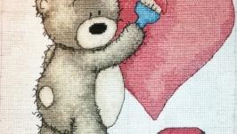 Вышитая картина ′Медвежонок Bruno′