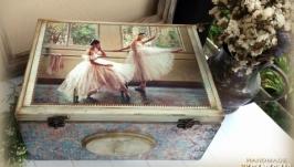 Велика скриня(сундук) ′Бірюзові балетні фантазії′