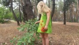 Детское валяное платье