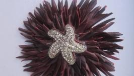Цветок-брошь Sea