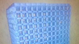 Корзина для белья с бумажной лозы