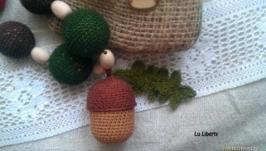 Слингобусы, экобусы ′Времена года′ Золотые краски осени. С погремушкой.