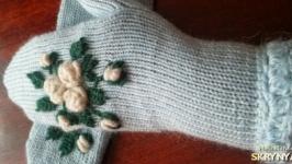 Рукавички ′Білі троянди′