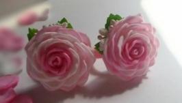 Гумки для волосся. Рожево-білі.
