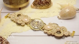 Наручные сутажные часы ′Французское кружево′