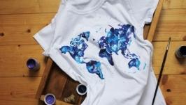 Футболка ′Карта мира′