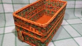 Короб для хранения плетеный