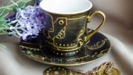Чашка для чая или кофе в стиле лофт