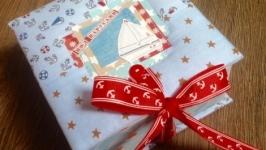 Коробочка Мамины сокровища для мальчика в морском стиле