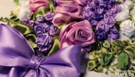 Картина лентами «Фиолетовый букет»