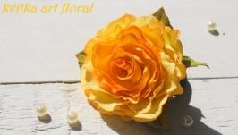 резинка для волос Жовта квiтка
