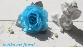 резинка для волос Блакитна троянда