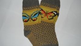 Жаккардовые гольфы-носочки