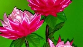 Цветочный топиарий для интерьера ′Розовые Астры′