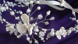 Свадебный венок-диадема