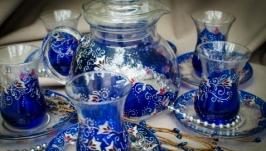 Набор для восточного чаепития армуды и чайник ′Сапфир′