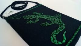 Сумочка ручной работы ′Саламандра. Ночь′
