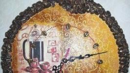 Подарок часы на стену ′Кавові′