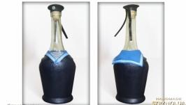 Подарочное оформление бутылки «День ВМФ» Подарок мужчине моряку.