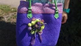 Валяна сумка Бузковий рай