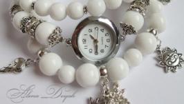 Часы ручной работы с натуральными камнями