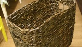 Газетница плетеная