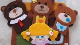 Пальчиковый театр Маша и 3 медведя