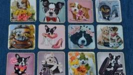Магниты-открытки Собаки