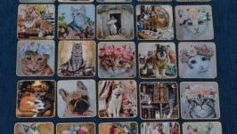 Магниты-открытки Котики-Собаки