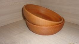 Деревянная тарелка 18 см, посуда из дерева