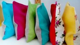 Сухая подушка-грелка с ЭКО-наполнителем, вишневыми косточками.