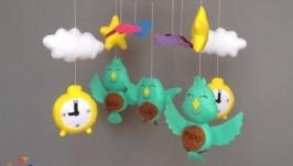 Дитячий мобіль ручної роботи Пташки