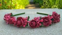 Віночок ′Троянди з ягодами′