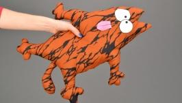 Кот - сиденье на табурет из ткани