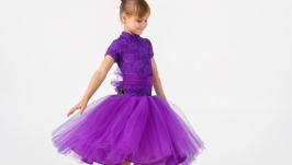 Рейтинговое платье для бальных танцев (бейсик) Purple Doll