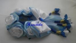 Резинка на гульку  ′Голубая роза′