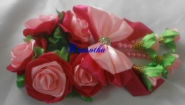 Резинка на гульку  ′Розовая роза′