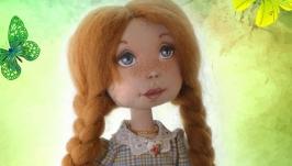 Авторская кукла Рыжая хозяюшка. Интерьерная текстильная кукла.