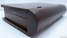 шкатулка книга деревянна дубова 30х21,5х7.5см темна