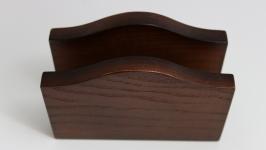 Салфетниця деревянна темна